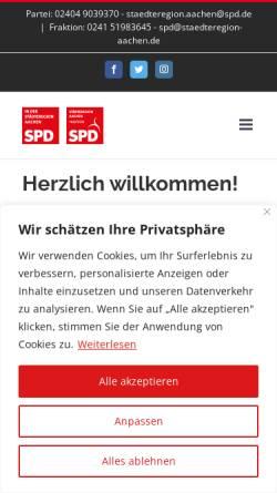 Vorschau der mobilen Webseite www.spd-staedteregion-aachen.de, SPD in der Städteregion Aachen