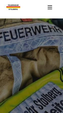 Vorschau der mobilen Webseite www.feuerwehr-stolberg.de, Freiwillige Feuerwehr