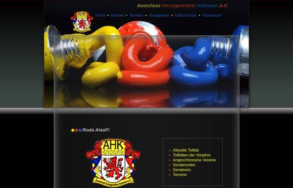 Vorschau von www.ahk-web.de, Ausschuss Herzogenrather Karneval e.V. (AHK)