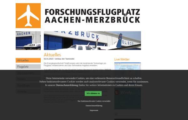 Vorschau von www.flugplatz-aachen.de, Flugplatz Aachen-Merzbrück (FAM) GmbH