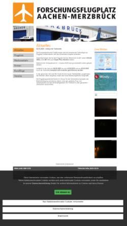 Vorschau der mobilen Webseite www.flugplatz-aachen.de, Flugplatz Aachen-Merzbrück (FAM) GmbH