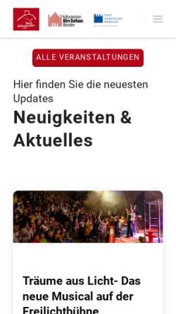 Vorschau der mobilen Webseite www.burg-wilhelmstein.de, Burg Wilhelmstein