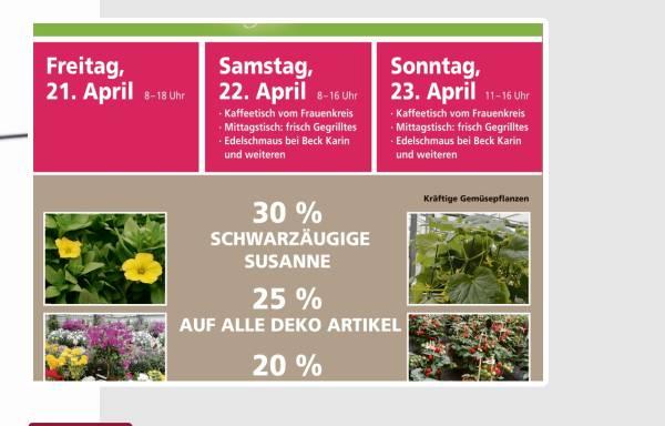 Vorschau von www.blumen-meier.de, Gärtnerei Meier