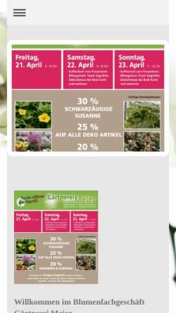Vorschau der mobilen Webseite www.blumen-meier.de, Gärtnerei Meier