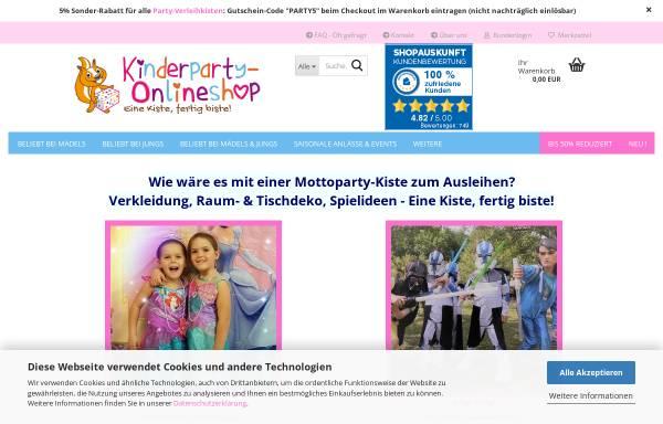 Vorschau von www.anjas-kinder-events.de, Anjas Kinder Events