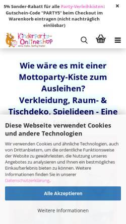 Vorschau der mobilen Webseite www.anjas-kinder-events.de, Anjas Kinder Events