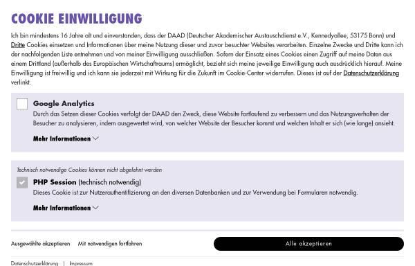 Vorschau von www.study-in-germany.de, Study-in-Germany - Studium und Forschung in Deutschland