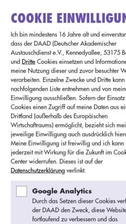 Vorschau der mobilen Webseite www.study-in-germany.de, Study-in-Germany - Studium und Forschung in Deutschland