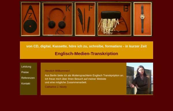 Vorschau von englisch-medien-transkription.de, Englisch-Medien-Transkription Catherine Nicely