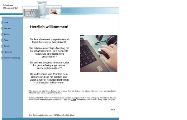 Vorschau von www.mthiel-sbt.de, Schreibbüro und Büroservice Melanie Thiel