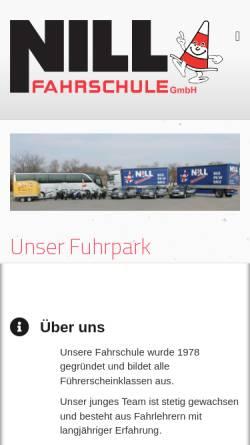 Vorschau der mobilen Webseite www.fahrschule-nill.de, Fahrschule Siegfried Nell