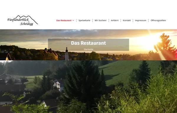 Vorschau von www.fuenflaenderblick.de, Café/Restaurant Fünfländerblick