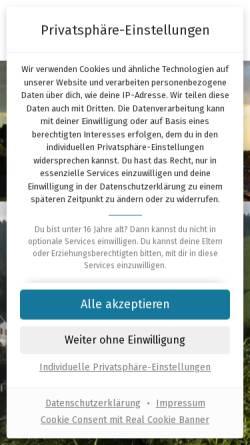 Vorschau der mobilen Webseite www.fuenflaenderblick.de, Café/Restaurant Fünfländerblick