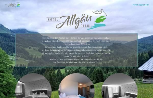 Vorschau von www.hotel-allgaeu-garni.de, Hotel Allgäu garni