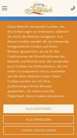 Vorschau der mobilen Webseite www.gaestehaus-bergblick.de, Hotel garni Gästehaus Bergblick