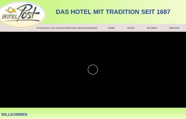 Vorschau von www.hotelpost-scheidegg.de, Hotel Post