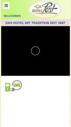 Vorschau der mobilen Webseite www.hotelpost-scheidegg.de, Hotel Post