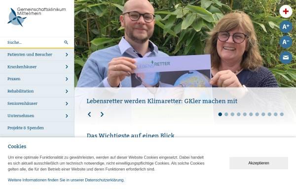 Vorschau von www.gk.de, Gemeinschaftsklinikum Mittelrhein, Ev. Stift St. Martin