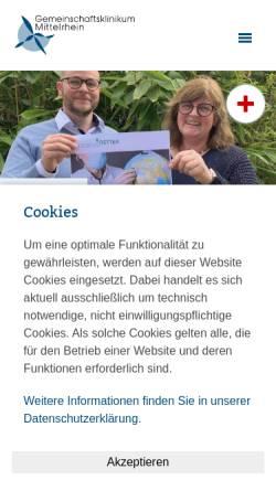 Vorschau der mobilen Webseite www.gk.de, Gemeinschaftsklinikum Mittelrhein, Ev. Stift St. Martin