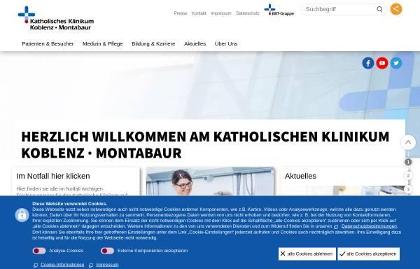 Vorschau von www.kk-km.de, Katholisches Klinikum Koblenz