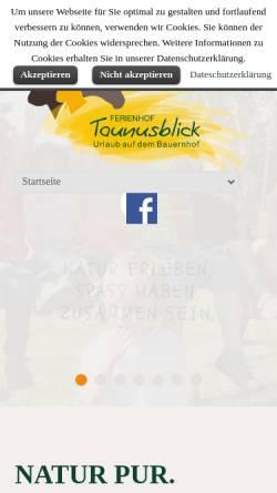 Vorschau der mobilen Webseite www.ferienhof-taunusblick.de, Ferienhof Taunusblick
