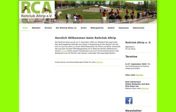 Vorschau von www.reitclub-altrip.de, Reitclub Altrip e.V.