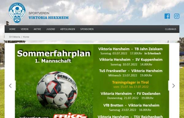 Vorschau von www.viktoria-herxheim.de, Sportverein Viktoria Herxheim 1913 e.V.