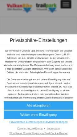 Vorschau der mobilen Webseite www.vulkanbike.de, Vulkan-Bike Eifel-Marathon