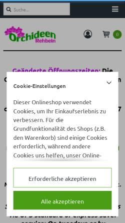 Vorschau der mobilen Webseite www.orchideen-rehbein.de, Orchideen Rehbein