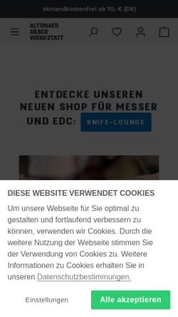 Vorschau der mobilen Webseite www.altonaer-silberwerkstatt.de, Altonaer Silberwerkstatt