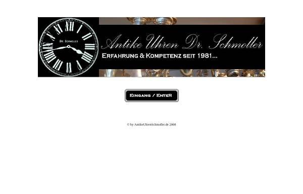 Vorschau von www.antikeuhrenschmoller.de, Antike Uhren Dr. Schmoller