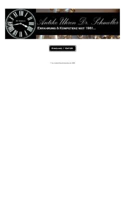 Vorschau der mobilen Webseite www.antikeuhrenschmoller.de, Antike Uhren Dr. Schmoller