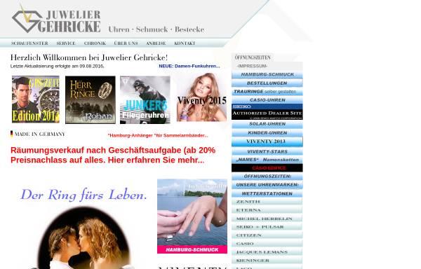 Vorschau von w1.gehricke-co.de, Juwelier Gehricke