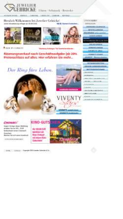Vorschau der mobilen Webseite w1.gehricke-co.de, Juwelier Gehricke