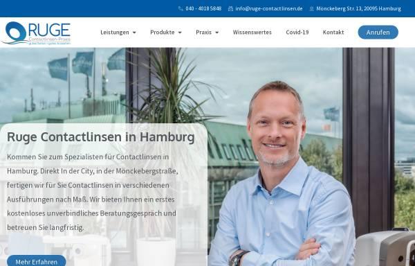 Vorschau von ruge-contactlinsen.de, Ruge Contactlinsen Praxis