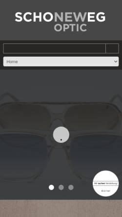 Vorschau der mobilen Webseite www.schoneweg.de, Schoneweg Optik GmbH