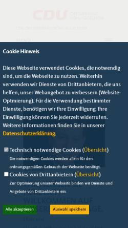 Vorschau der mobilen Webseite cdu-boehl-iggelheim.de, CDU Böhl-Iggelheim