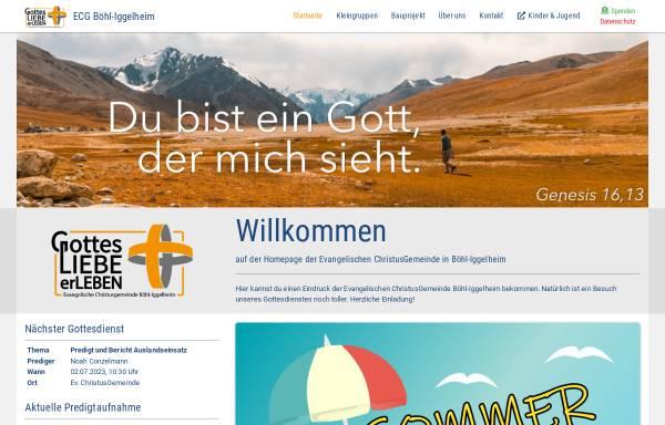 Vorschau von www.ecg-boehl-iggelheim.de, EC-Jugendkreis Böhl-Iggelheim