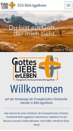 Vorschau der mobilen Webseite www.ecg-boehl-iggelheim.de, EC-Jugendkreis Böhl-Iggelheim