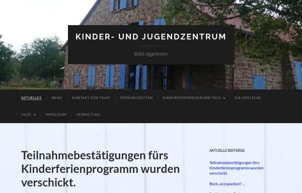Vorschau von www.juz-boehl-iggelheim.de, Kinder- und Jugendzentrum Böhl-Iggelheim