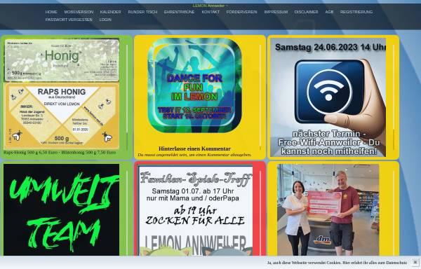 Vorschau von www.lemon-net.de, Jugendhaus Lemon Annweiler