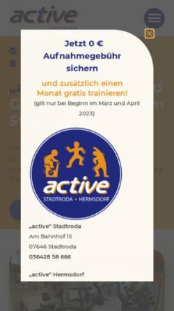 Vorschau der mobilen Webseite www.stadtroda-active.de,