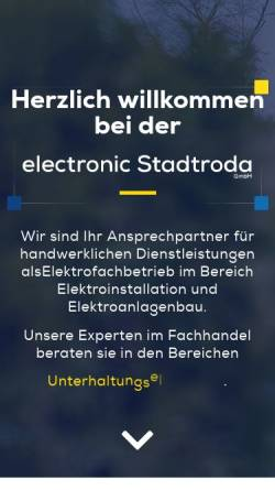 Vorschau der mobilen Webseite www.electronic-stadtroda.de, electronic Stadtroda GmbH