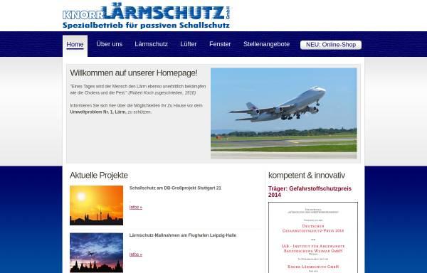 Vorschau von www.knorr-laermschutz.de, Knorr Lärmschutz GmbH