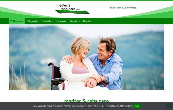Vorschau von www.medtecrehacare.de, medtec & reha care GmbH