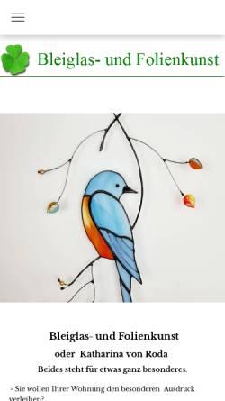 Vorschau der mobilen Webseite www.bleiglas-folienkunst.de, SKS Bleiglas- und Folienkunst