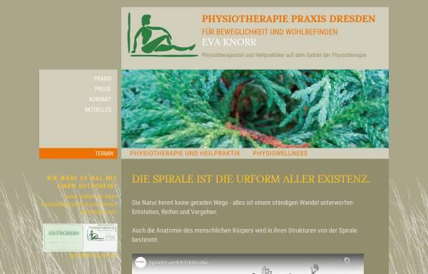 Vorschau von www.physiotherapie-knorr.de, Physiotherapie Eva Knorr