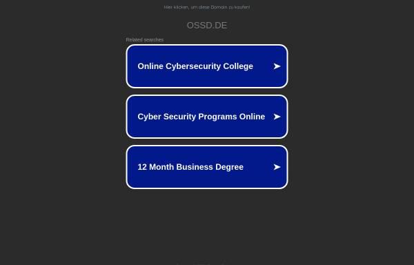 Vorschau von www.ossd.de, OSS Claudia König-Schriever
