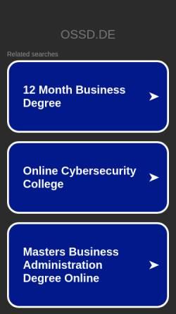 Vorschau der mobilen Webseite www.ossd.de, OSS Claudia König-Schriever