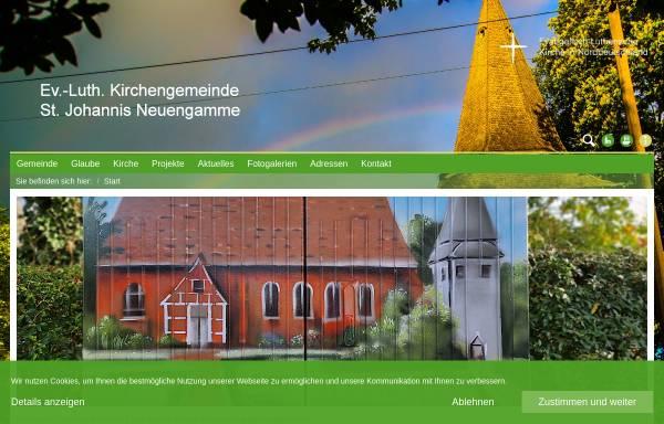 Vorschau von www.kirche-neuengamme.de, Kirchengemeinde St. Johannis zu Neuengamme